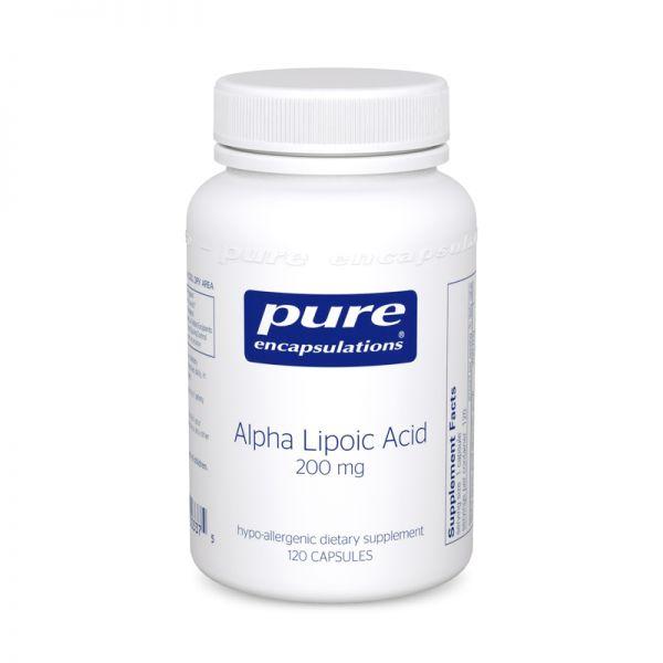 Bottle of Pure Encapsulations Alpha Lipoic Acid 200 mg