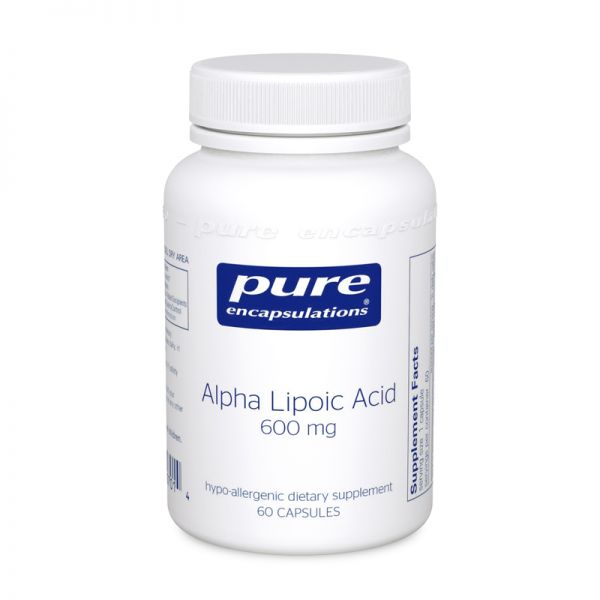 Bottle of Pure Encapsulations Alpha Lipoic Acid 600 mg