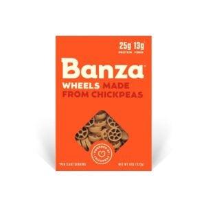 Box of Banza Wheels Pasta
