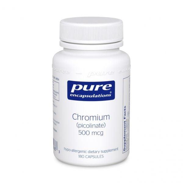 Bottle of Pure Encapsulations Chromium Picolinate
