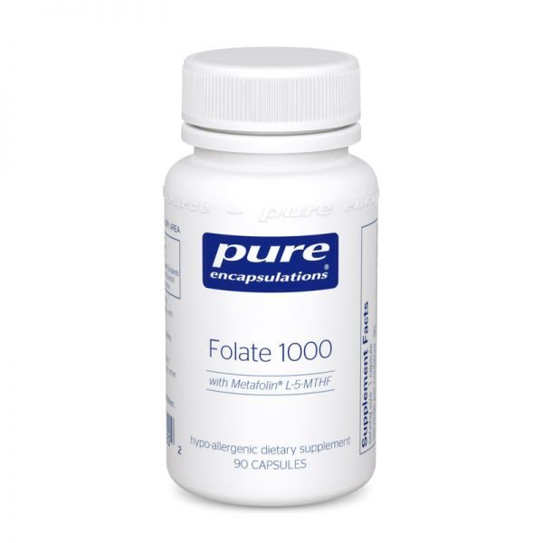 Bottle of Pure Encapsulations Folate 1000