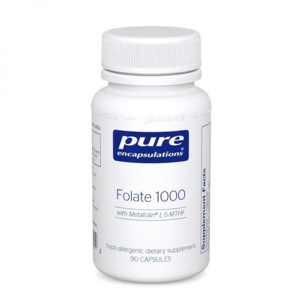 Bottle of Pure Encapsulations Folate 1000