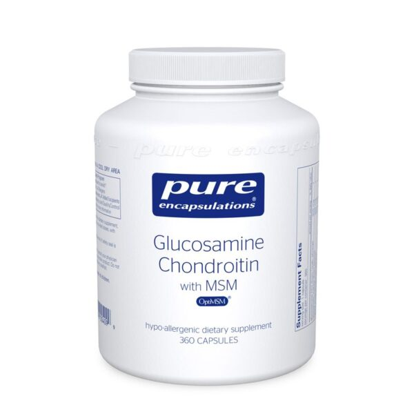 Bottle of Pure Encapsulation Glucosamine with Chondroitin and MSM