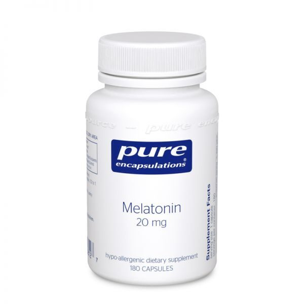 Bottle of Pure Encapsulations Melatonin 20