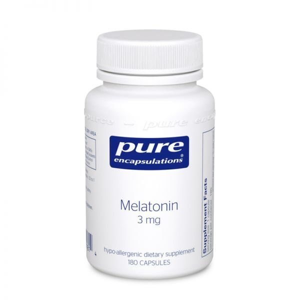 Bottle of Pure Encapsulations Melatonin 3 mg