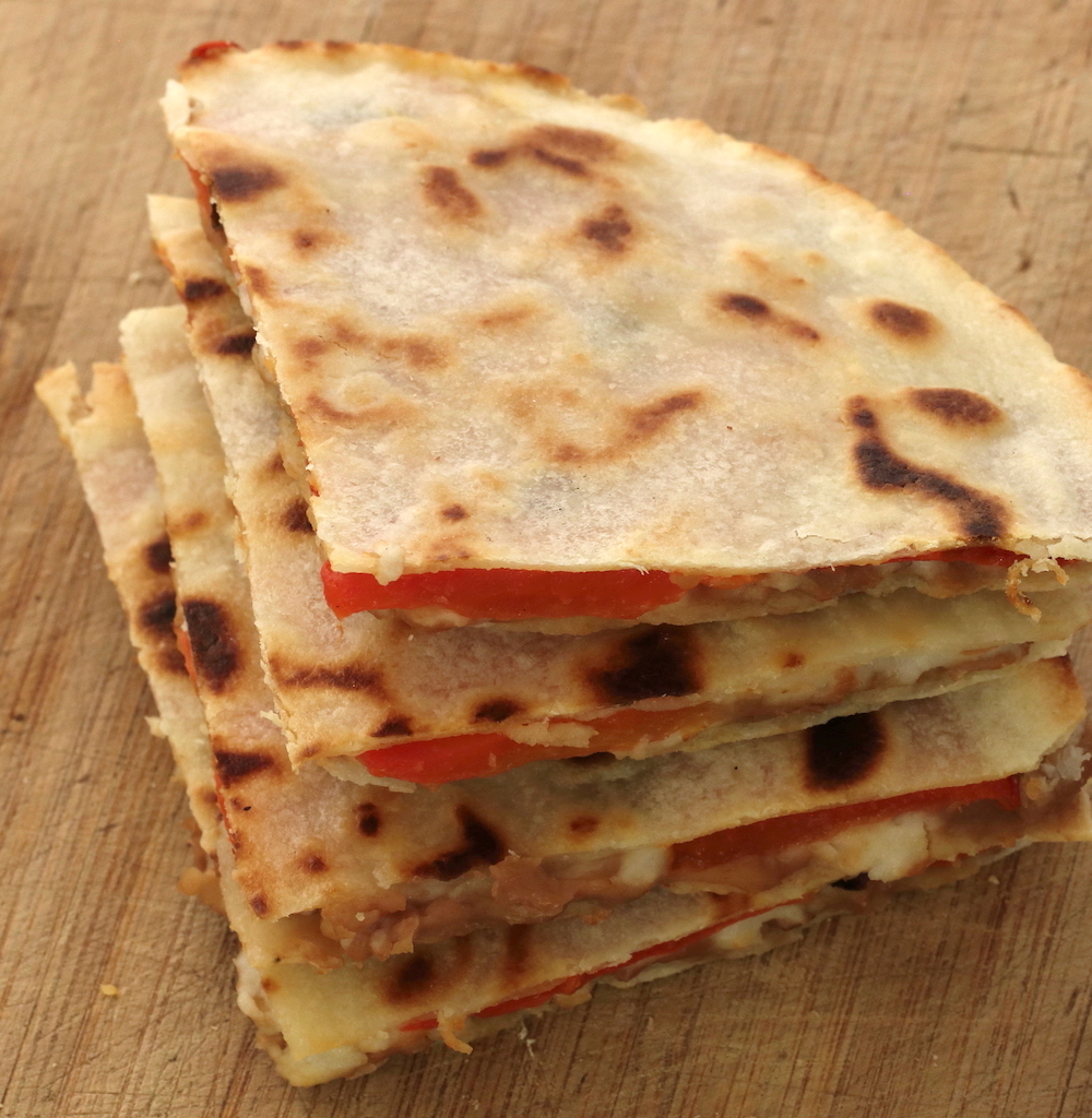 grain-free plant-based quesadillas
