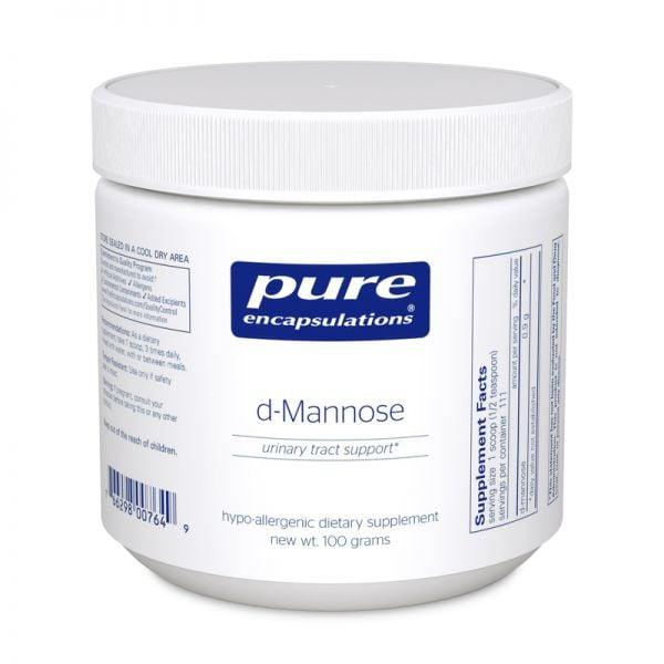 Bottle of Pure Encapsulations D-Mannose Powder