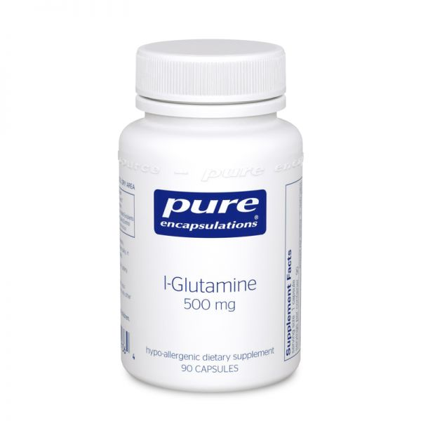 Bottle of Pure Encapsulations L-Glutamine 500