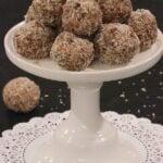 Fruit and Nut Balls arranged on a pedestal