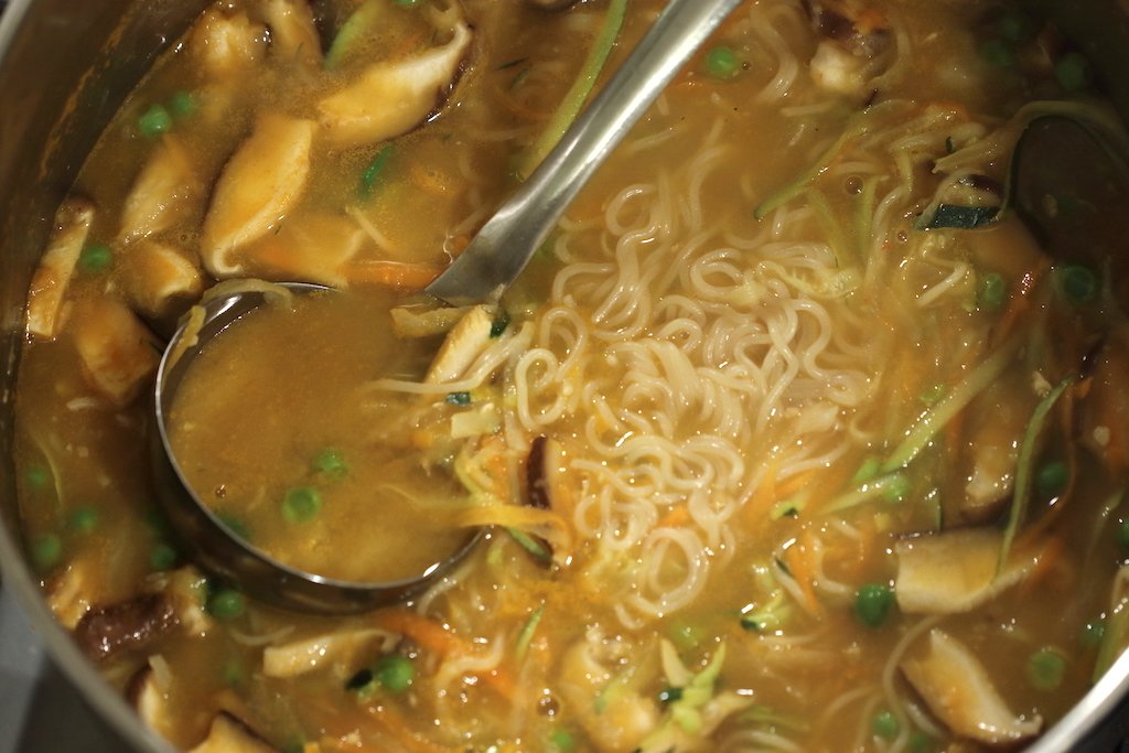 Healthy Ramen Noodles recipe in pot