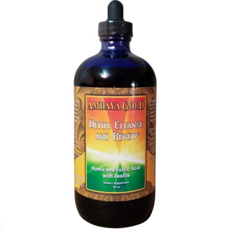 16 oz. Bottle of Ambaya Gold Detox, Cleanse and Renew