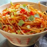 Vegan Thai Noodles served in an Asian style bowl with chopsticks
