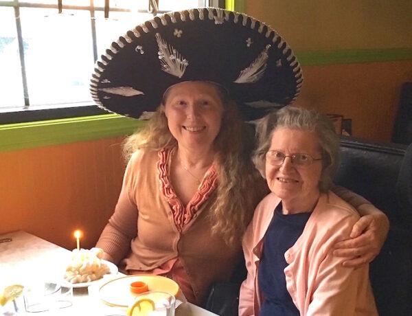 Judy and her Mom celebrating Judy's 60th birthday