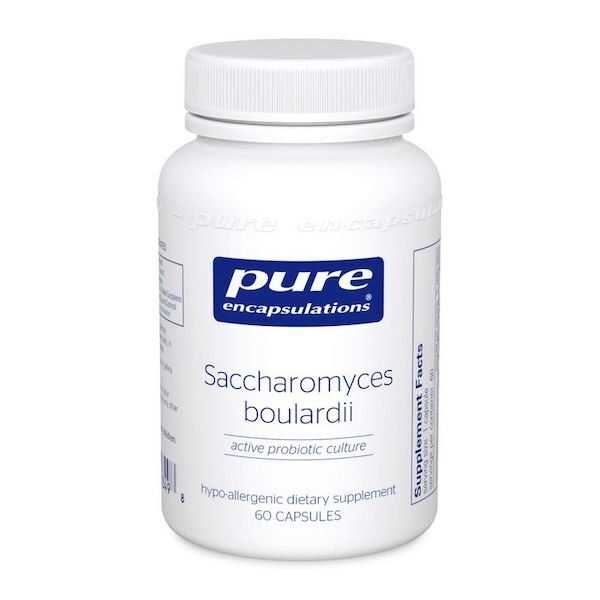 Bottle of Pure Encapsulations Saccharomyces boulardii