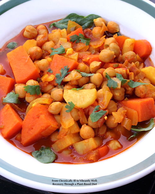 A bowl of Moroccan Sweet and Spicy Stew