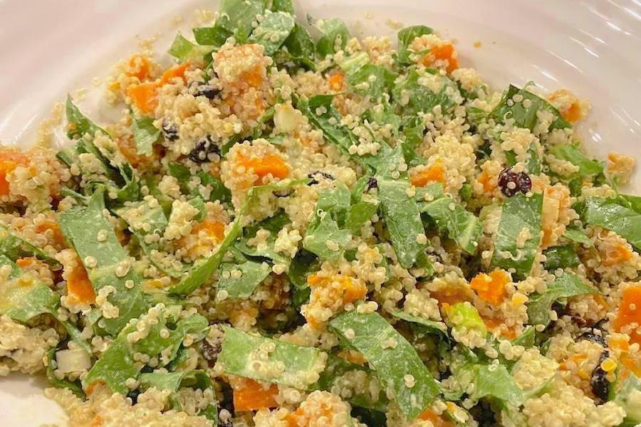 Warm Quinoa Salad close up