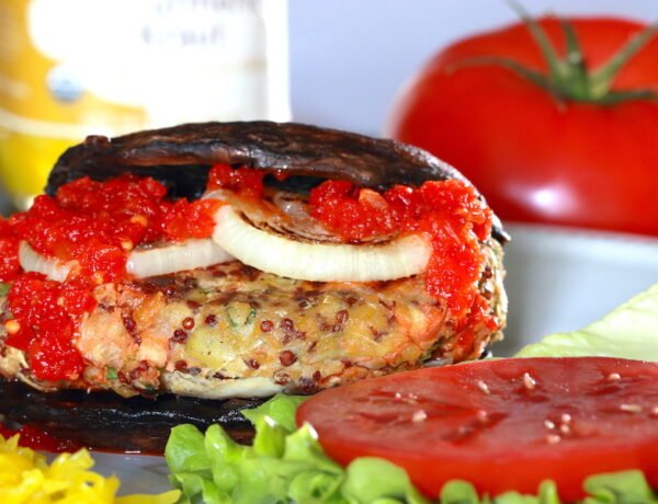 Chickpea Burger with artichokes