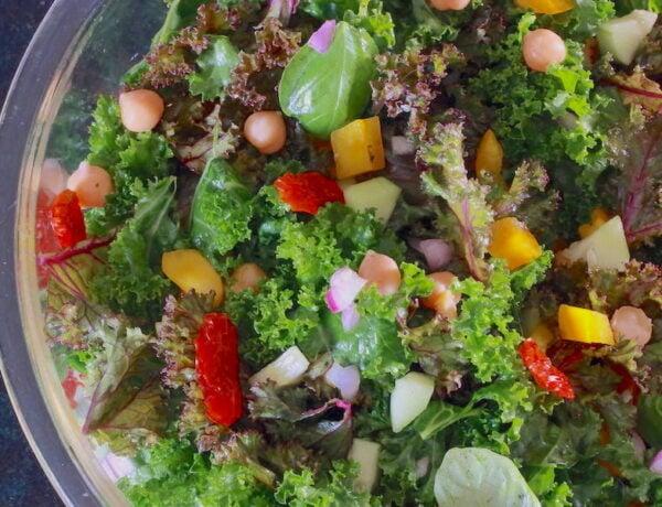 Kale Chickpea Salad
